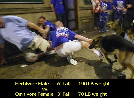 Female Omnivore Devours Male Human 2ble its weight.